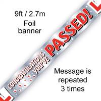 BANNER 9FT YOU'VE PASSED