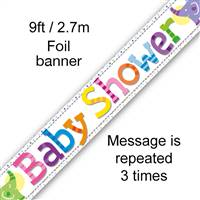 BANNER 9FT BABY SHOWER ELEPHANTS