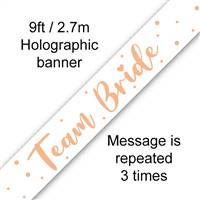 BANNER 9FT TEAM BRIDE METALLIC