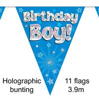 BUNTING BIRTHDAY BOY BLUE 11 FLAGS 3.9M