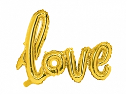 "34"" Love Gold Script Foil Ireland"
