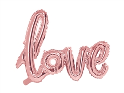 "34"" Love Script Rose Gold Foil Ireland"