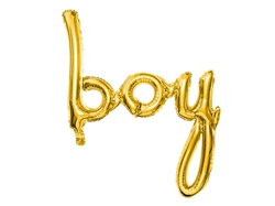 "34"" Boy Script Gold Foil Ireland"