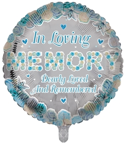In Loving Memory Foil Blue