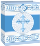 BLUE RADIANT CROSS GIFT BAG -MEDIUM