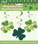ARGYLE ST PATRICKS HANGING SWIRLS (3 PER PACK)