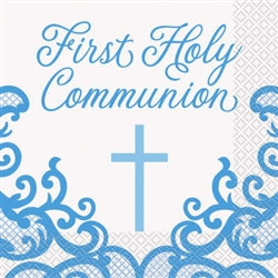 NAPKINS: BLUE CROSS FIRST HOLY COMMUNION NAPKINS (16 PER PACK)