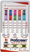 Proscreen 9 Drug Test Card Flood Free