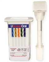 Uscreen oral swab cube saliva alcohol drug test