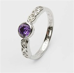 Ladies Birthstone Silver Celtic Ring LS-SL94-2