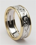 Ladies Celtic Wedding Rings LG-WED107