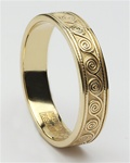 Ladies Celtic Spirals Wedding Rings LG-WED113