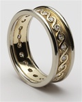 Ladies Celtic Continuity Diamond Wedding Rings LG-WED75