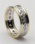 Ladies Celtic Continuity Diamond Wedding Rings LG-WED77