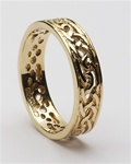 Ladies Celtic Filigree Wedding Rings LG-WED93
