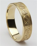 Mens Celtic Spirals Wedding Rings MG-WED114