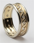 Mens Celtic Continuity Diamond Wedding Rings MG-WED76