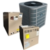 2.5 Ton DiamondAir 14 SEER 80% or 96% Dual Fuel Heat Pump 80K BTU System D1430HC, Furnace, Cased Coil