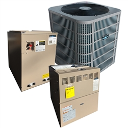 3.0 Ton DiamondAir 14 SEER 80% or 96% Dual Fuel Heat Pump Up To 80K BTU System D1436HC, Furnace, Cased Coil