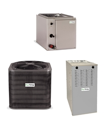 2.5 Ton Grandaire NOx Approved 14 SEER 80% or 95.5% AFUE Up To 80K BTU System WCA4304GKA, Furnace, Cased Coil (TX)