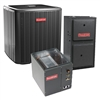 Goodman 2 Ton 17.5 SEER Two Stage Dual Fuel Heat Pump System GSZC180241, Variable Speed 96% Furnace, Cased Coil, TXV