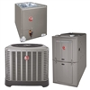2 Ton Rheem 15 SEER Dual Fuel Heat Pump Up To 50K BTU System RP1524BJ1NA, 80% or 95+% Furnace, RCF2417STAMCA
