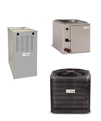 3 Ton EcoTemp NOx Approved 15 SEER 80% Dual Fuel Heat Pump Up To 90K BTU System WCH4364GKB, WFEL Furnace, WLAM374BA (T)
