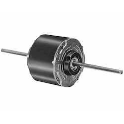 Double Shaft Fan & Blower Motor 1/6HP 1075RPM, 3 Speed 208-230V