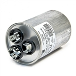 Capacitor Round Dual Section 45/10 MFD 370/440VAC