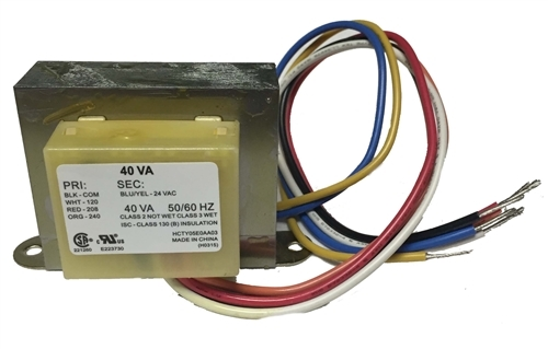 Transformer With Wire Leads And Quick Connect Universal 24