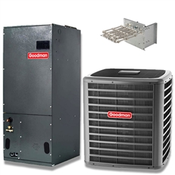 3 Ton Goodman 17.5 SEER Two Stage Central System GSXC180361, AVPTC49D14 Variable Speed