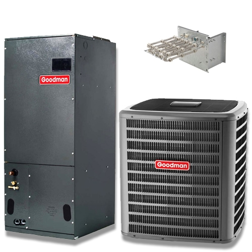 3 Ton Goodman 16 Seer Two Stage Heat Pump System Gszc160361a Avptc37c14 Variable Sd