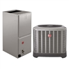 2 Ton Rheem 15.5 SEER Heat Pump System RP1524BJ1NA, RH1V2417STANJA Variable Speed