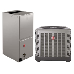 5.0 Ton Rheem 15 SEER Heat Pump System RP1560AJ1NA, RH1V6024STANJA Variable Speed