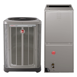 5.0 Ton 17 SEER Rheem Classic Plus EcoNet 3 Stage Compressor Heat Pump System RP1760AJVCA (9031), RH2T6021SEACJA (4592), INCLUDING Communicating Thermostat RETST601SYS