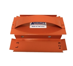 Amcraft Left, Right Modified Shiplap Orange Duct Tool