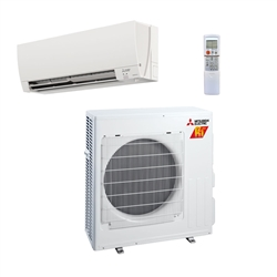 Mini Split 15,000 BTU Mitsubishi 22 SEER H2i Heat Pump System MUZFH15NA / MSZFH15NA (includes remote)