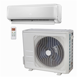 Mini Split 9,000 BTU DiamondAir Hyper Heat 25 SEER Heat Pump System D2009SHO, DF2009HMSI