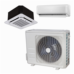 Mini Split Multi 2 Zone DiamondAir up to 22.5 SEER heat pump system DF18MZ2 x 2 Wall Mount or Ceiling Cassette