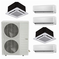 Mini Split Multi 5 Zone DiamondAir up to 22.4 SEER heat pump system DF48MZ5 x 5 Wall Mount or Ceiling Cassette |163145