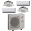 Mini Split Multi 4 Zone Mitsubishi up to 19.2 SEER Heat Pump System MXZ4C36NA2U1 x 4 Wall Mount or Ceiling Cassette