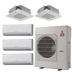 Mini Split Multi 5 Zone Mitsubishi up to 19.7 SEER Heat Pump System MXZ5C42NA x 5 Wall Mount or Ceiling Cassette