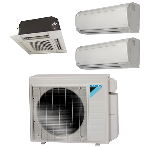 mini split multi 3 zone daikin up to 17 9 seer heat pump system