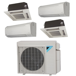 Mini Split Multi 4 Zone Daikin up to 17.7 SEER Heat Pump System 4MXS36NMVJU x 4 Wall Mount or Ceiling Cassette