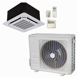 Mini Split 24,000 BTU DiamondAir Hyper Heat 20 SEER Heat Pump Ceiling Cassette System D2024SHO, DF2024CI