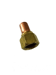 1/2 ODF x 1/2 SAE Swivel Female Flare x Solder Adapter