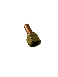 1/4 ODF x 1/4 SAE Swivel Female Flare x Solder Adapter