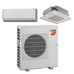 Mini Split Multi 2 Zone Mitsubishi H2i Hyper Heat up to 17 SEER Heat Pump System MXZ-2C20NAHZ2 x 2 Wall Mount or Ceiling Cassette