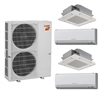 Mini Split Multi 4 Zone Mitsubishi H2i Hyper Heat up to 19.1 SEER Heat Pump System MXZ-4C36NAHZ x 4 Wall Mount or Ceiling Cassette, PAC-MKA51BC Branch Box