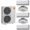 Mini Split Multi 5 Zone Mitsubishi H2i Hyper Heat up to 19 SEER Heat Pump System MXZ-5C42NAHZ x 5 Wall Mount or Ceiling Cassette, PAC-MKA50BC Branch Box